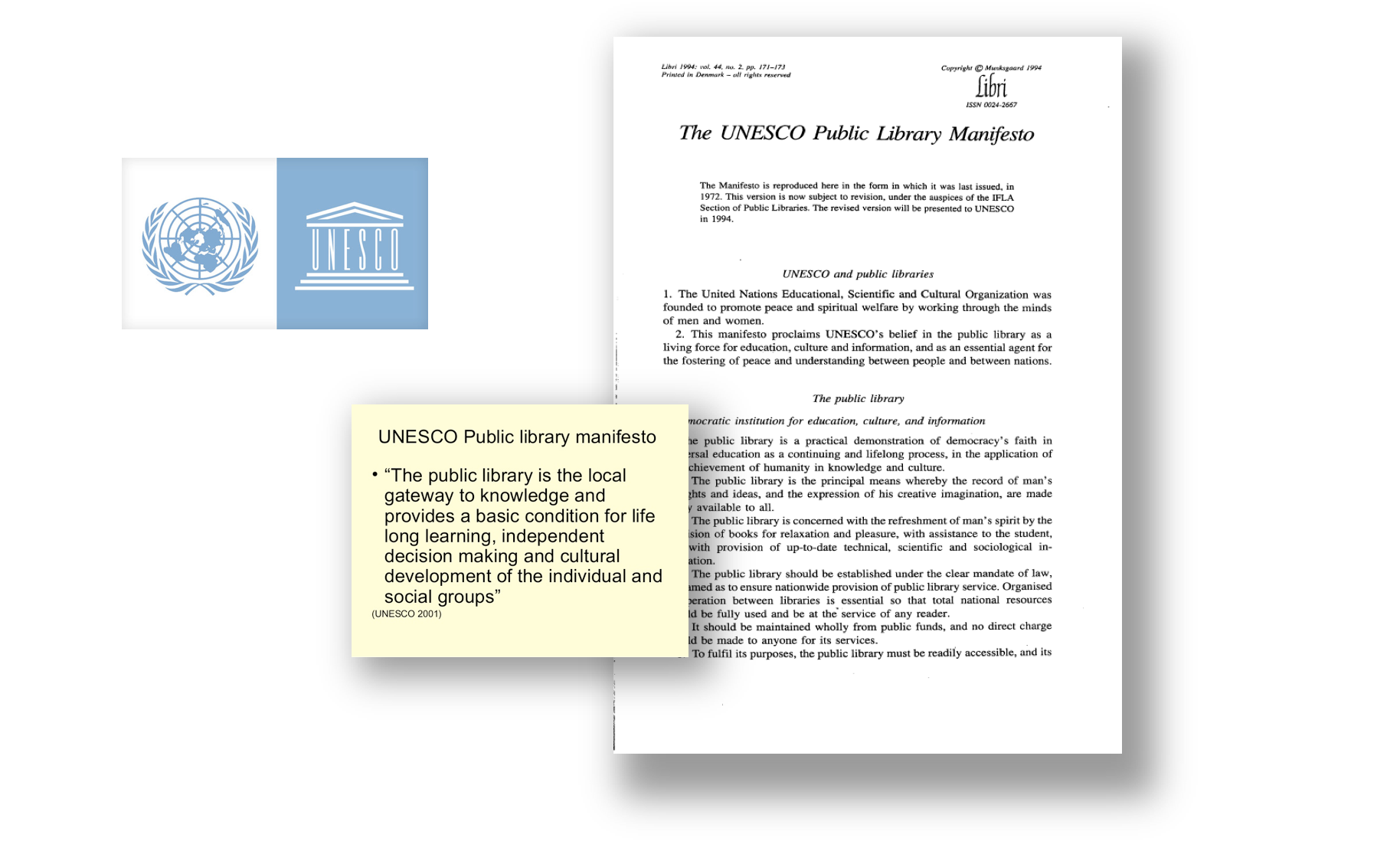 Public Library Manifesto - UNESCO